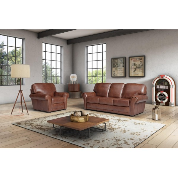 San Remo 3 Seater Leather