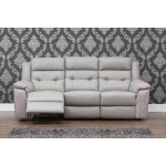 Lucca 3 Seater Recliner - Grey/Smoke