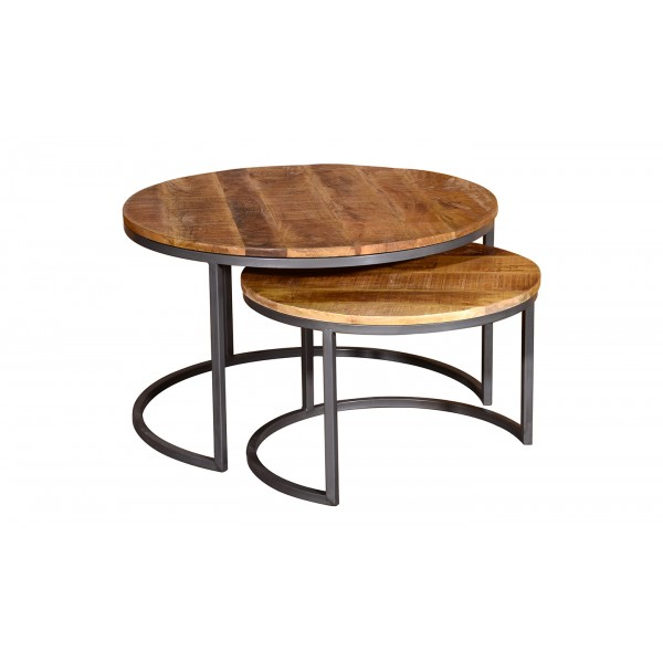 Savannah Round Coffee Table Set of Two